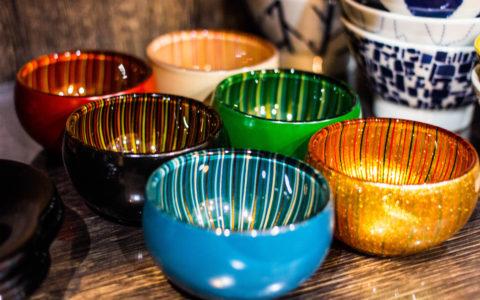 ガラス漆器 小鉢